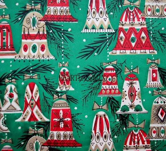 Retro Christmas Bells Wrapping Paper Wallpaper Download Printable Image 300 Dpi