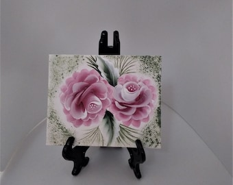 Hand Painted Canvas Wall Decor -  Mini Painting