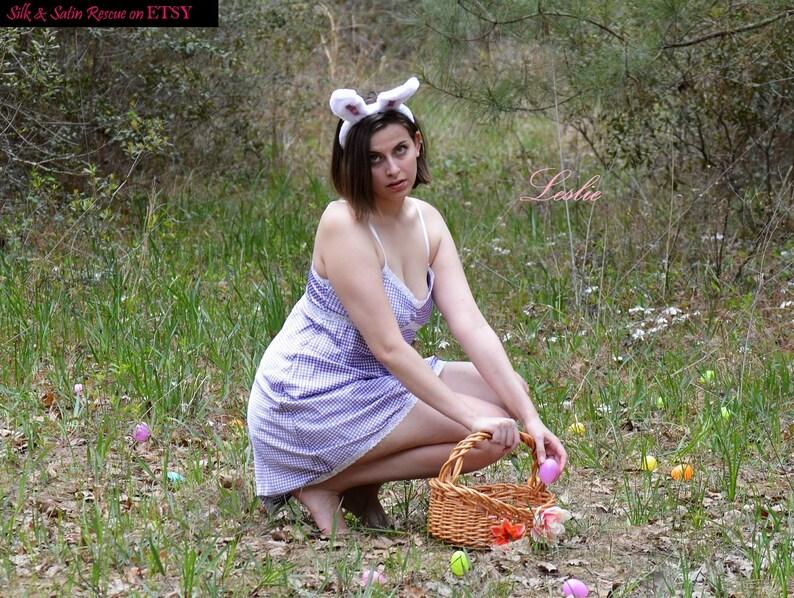33d132b826 Vera Wang SATIN BABYDOLL NIGHTIE Nightgown Pastel Purple
