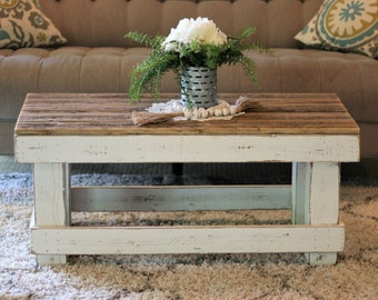 Farmhouse Coffee Table Etsy
