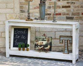 White Farmhouse Sofa Table