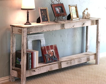 Rustic sofa table | Etsy