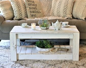 Farmhouse Coffee Table Etsy
