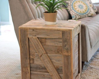 Crate Side Table Etsy