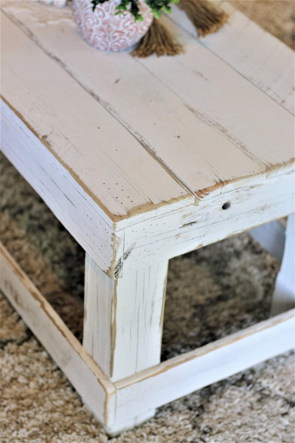 White Original Coffee Table No Shelf