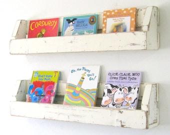 Rustic Bookshelves | Nursery Decor | Farmhouse Shelf
