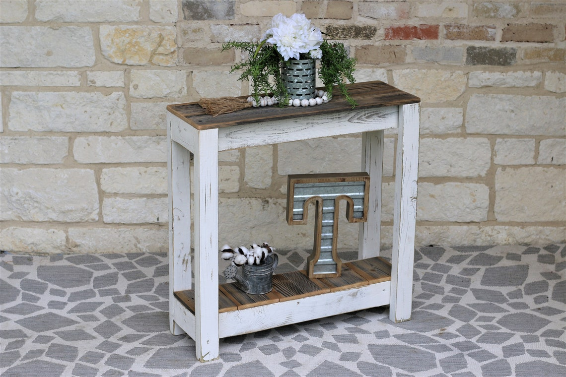 White Combo 30x10x30 Console Table