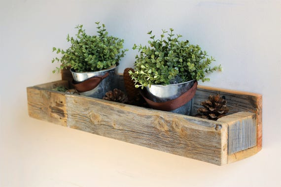 Natural Wall Mounted Planter Box Etsy