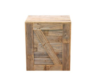 Natural Crate Side Table