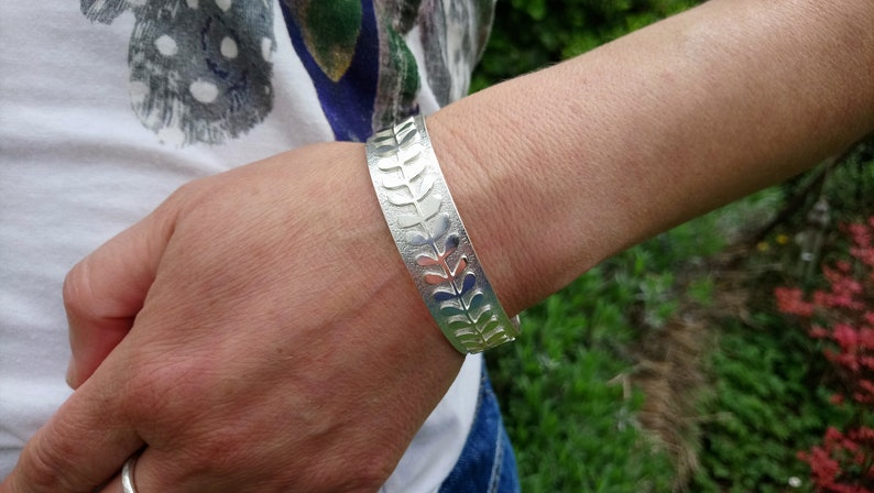 Flower Stem Cuff Bracelet Silver Cuff Handmade jewellery Handmade Bracelet Cuff Bracelet Silver Cuff Cuff Bangle Silver Cuff Bracelet