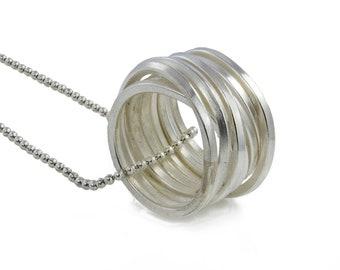 Long Necklace, chain necklace, pendant necklace, oxidised necklace, silver necklace, statement necklace, handmade necklace.