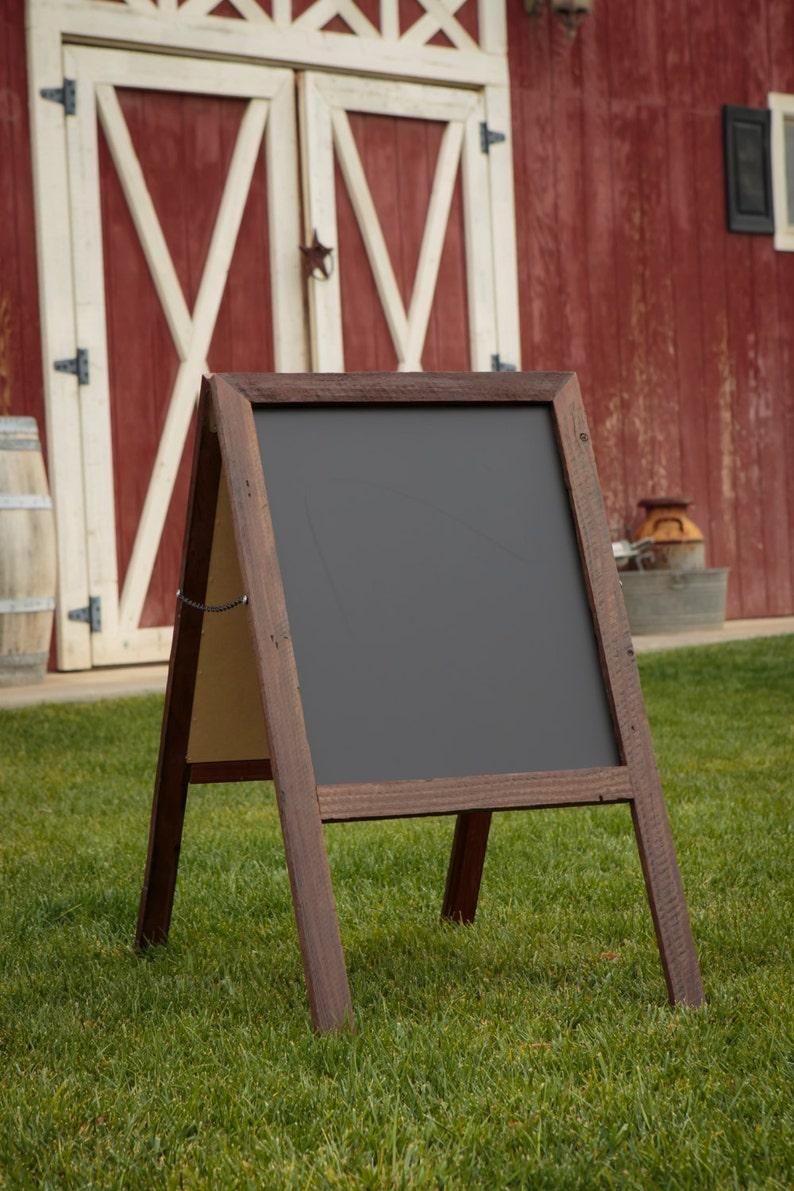 Chalkboard Reclaimed Wood Rustic Wood Sign Sandwich Board. image 0
