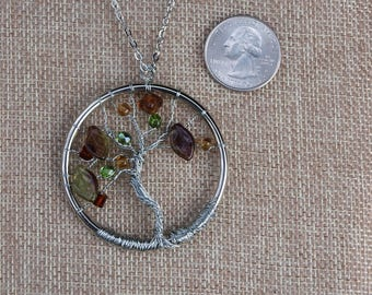Silver Wire Wrapped Tree of Life Necklace