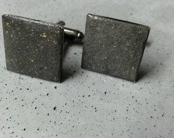 Concrete cufflinks, Antracit concrete cufflinks,  Man cufflinks, Modern cufflinks,  Industrial cufflinks