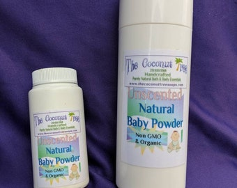 Travel Size UNSCENTED Baby Powder / Aluminium Free