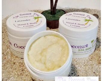 Lavender Body Cream / 2oz Jar / Coconut Oil / Olive Oil / Shea Butter / Cocoa Butter / Aloe Vera / Peppermint Lotion