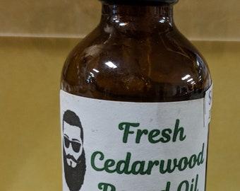 Fresh CedarWood Beard Oil / Scented Beard Oil / Beard Conditioner / Beard Repair / Beard Softener / Beard Balm / Beard Tonic