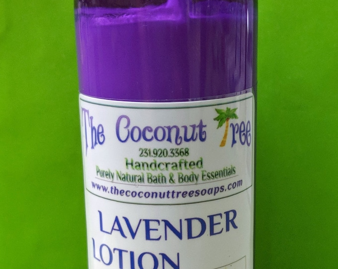 Lavender Body Lotion / Body Lotion / All Natural / Coconut Lotion / face lotion / Sun Protection