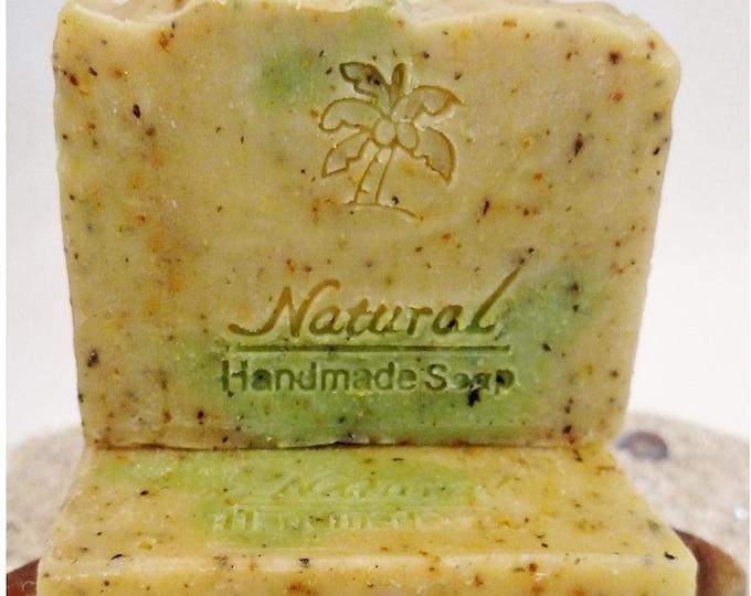Lemongrass & Green Tea Soap / Essential Oil Soap / Natural Soap / Antibacterial Soap / 5oz bar soap / Vegan Soap / face soap