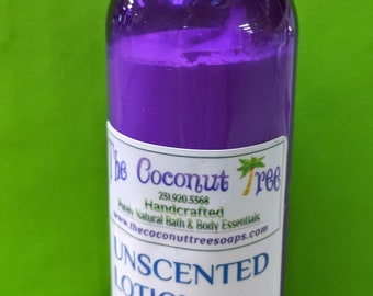 Unscented Body Lotion / All Natural Lotion / Coconut Lotion / Unscented Lotion / face lotion / sun protection