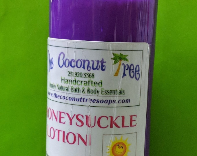 Honeysuckle Body Lotion / All Natural / Coconut Lotion / Lotion / face lotion / antibacterial lotion