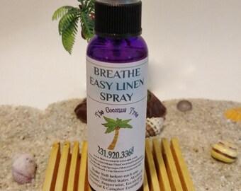 Breathe Easy Linen Spray / Cold Relief / Bronchitis Relief / Breathing Relief / Camphor / Peppermint / Lavender / Eucalyptus