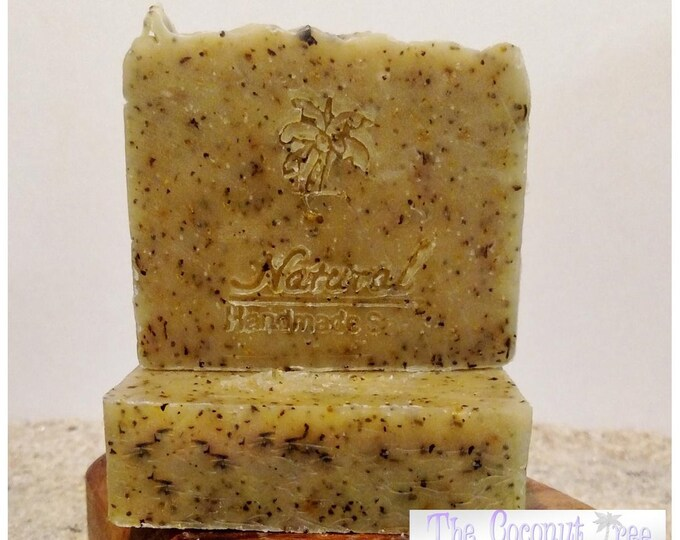 Orange Peppermint Soap / Essential Oil Soap / Natural Soap / Antibacterial Soap / 5oz bar soap / Vegan Soap / face soap