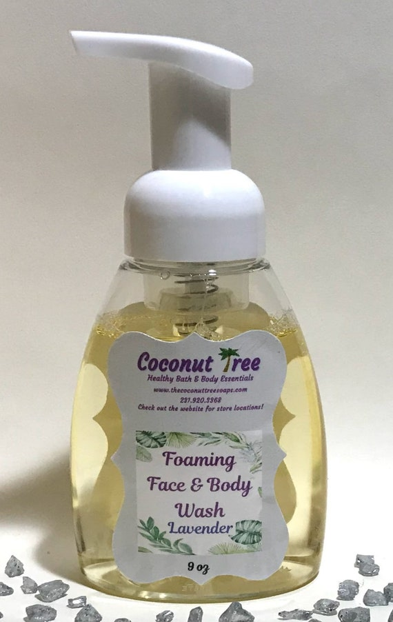 Lavender Foaming Hand Body Soap / Liquid soap / Essential Oil soap / Organic Soap / Natural Soap / Antibacterial Soap / Vegan Soap