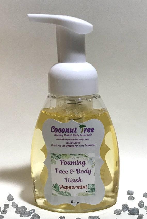 Peppermint Foaming Hand Body Soap / Liquid soap / Essential Oil soap / Organic Soap / Natural Soap / Antibacterial Soap / Vegan Soap