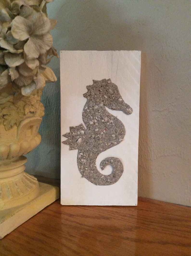 Superb Distressed Wood Beach Sand Seahorse Wall Plaque Beach Cottage Decor Download Free Architecture Designs Photstoregrimeyleaguecom