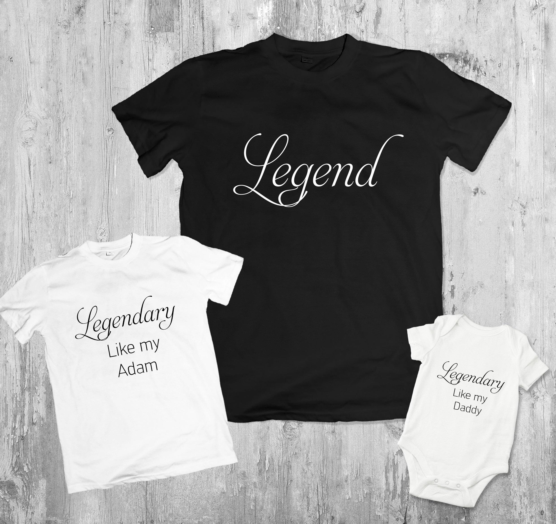 097ee2eba Father son matching shirts legendary shirt legend shirt | Etsy
