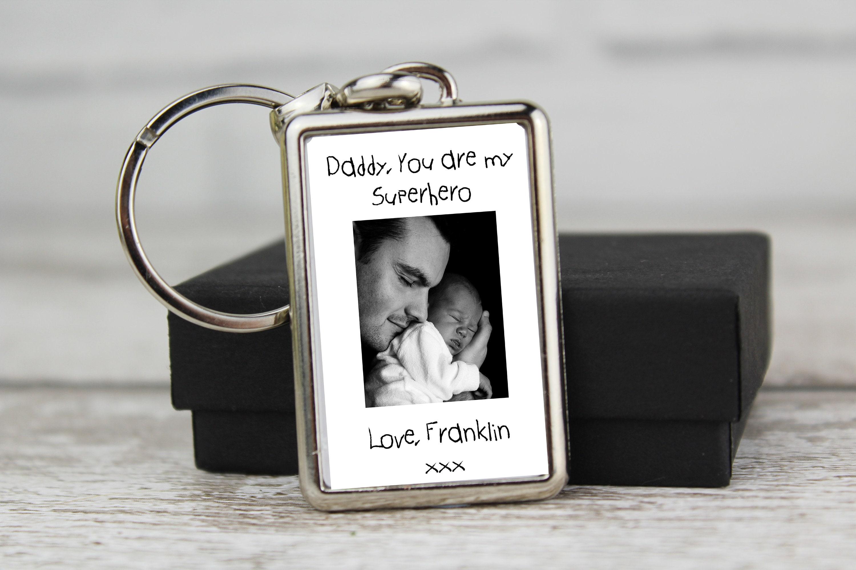 Gifts Fathers day teacher Grandad Dad Superhero Daddy Personalised  Keyring