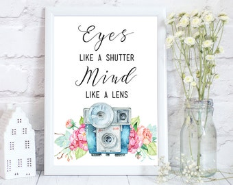 Photography Prints, Camera Gifts, Photography Gifts, Camera Print, Camera Quote, Photographer gift, Gift for photographer, PRINT ONLY