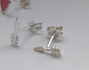 Sterling Silver Tiny Arrow Earrings Studs - Perfect Christmas Gift