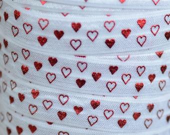 "5 yards red princess w// crowns print 5//8/"" fold over elastic FOE"
