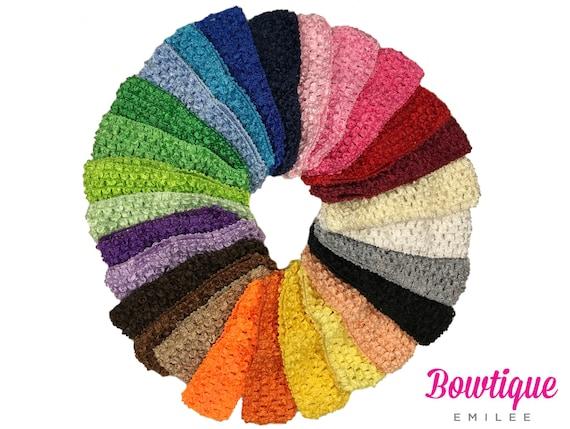 Baby Crochet Headbands 1.5 Waffle Crochet Elastic Head  352901bb3ef