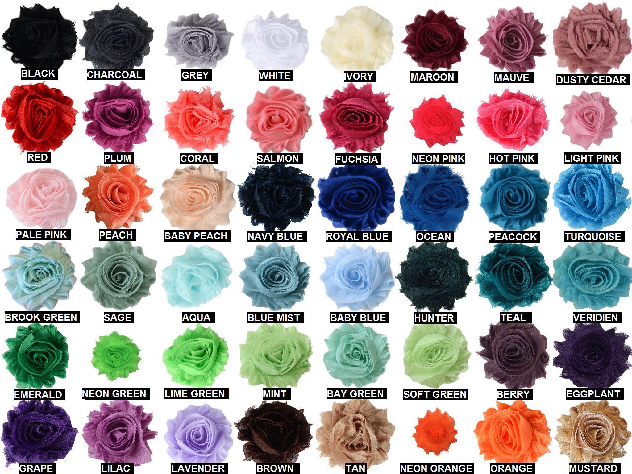 1.5 Shabby Chiffon Rose Trim Headband Supplies Lavender Shabby Flower Wholesale Trim Chiffon Flowers by the Yard