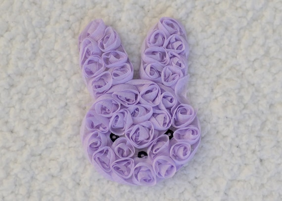 """3 pieces light pink 3/"""" shabby chiffon Easter bunny rose trim"""