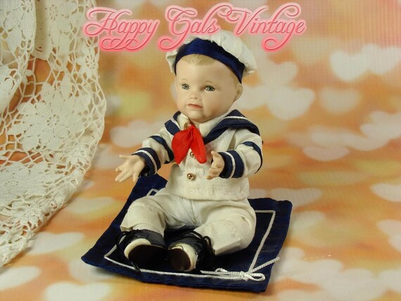 Little Sailor Doll Small Porcelain Boy Doll Picture Perfect Etsy