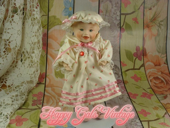Small Porcelain Baby Doll Little Ceramic Doll Picture Etsy