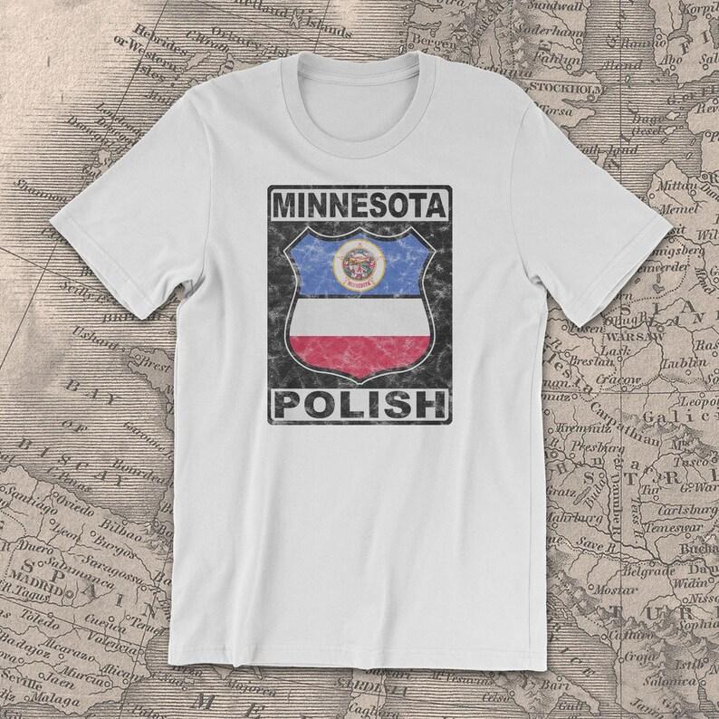 dc2316f2c Minnesota Polish T-Shirt Polish American T-Shirt Polish | Etsy