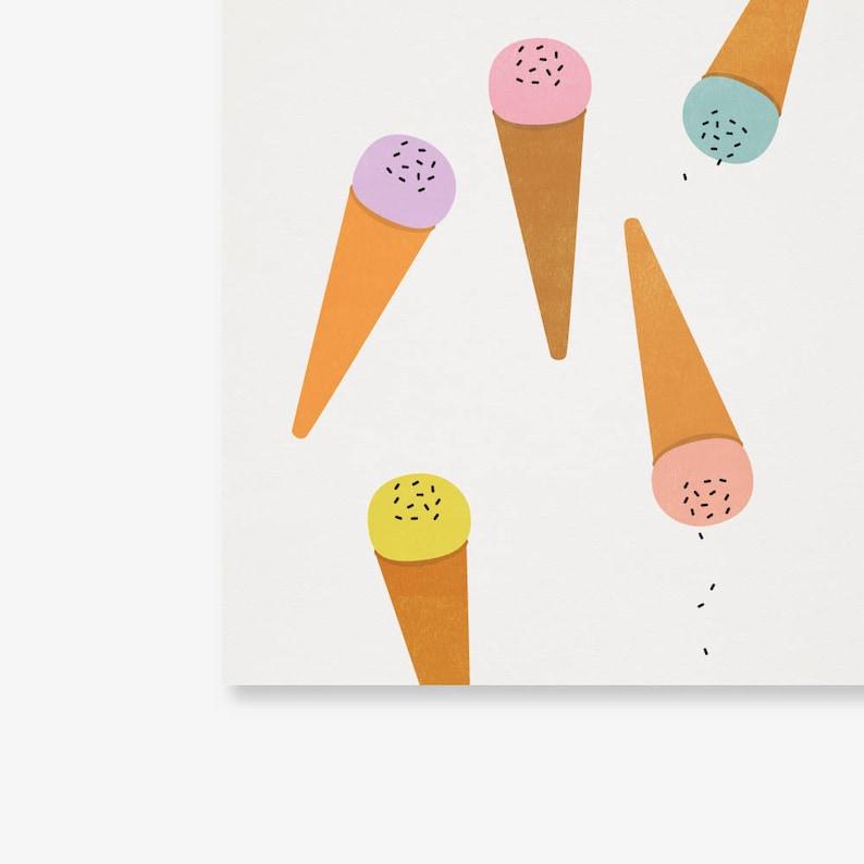 Ice Cream Poster Pastel Nursery Art Print