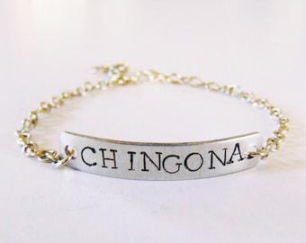 Chingona childhood bracelet ( name bracelet, latinx bracelet, chingona)