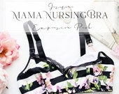 Jasmine Mama Nursing Maternity Bra Expansion Pack Sewing Pattern with Side Sling for Breastfeeding