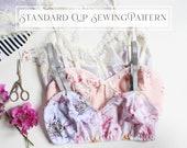 Jasmine Bra Bralette Beginner PDF Lingerie Sewing Pattern