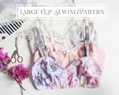Full Bust DD+ Jasmine Bra Bralette Beginner PDF Lingerie Sewing Pattern