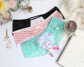 Panties Lingerie Sewing Pattern Lace Hipster Sexy Undies DIY Instant Download