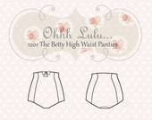 High Waist Panties Sewing Pattern Vintage Style Pin Up Ohh Lulu 1201 The Betty High Waist Panties PDF Instant Download