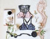 Modern Racer Back Lace Bralette Sewing Pattern Ohhh Lulu 1506 Scarlett Bra Instant Download Sewing Pattern PDF