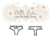 Ohhh Lulu Ruffle Thong PDF Sewing Pattern